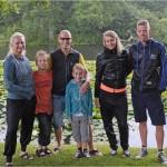 Min familie ved søen